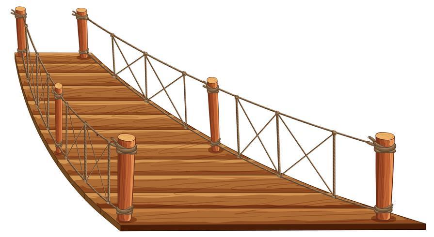 Pont en bois avec corde attachée