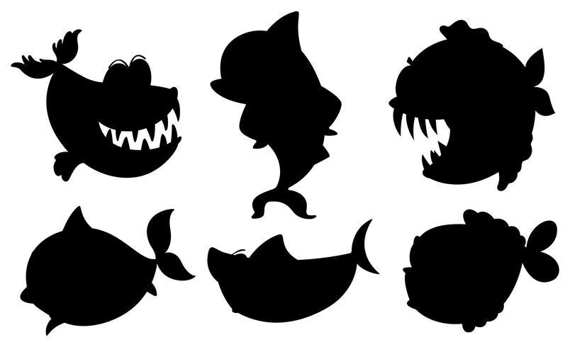Une école de poissons noirs