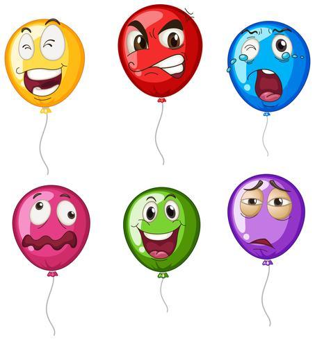 Heliumballons mit Mimik