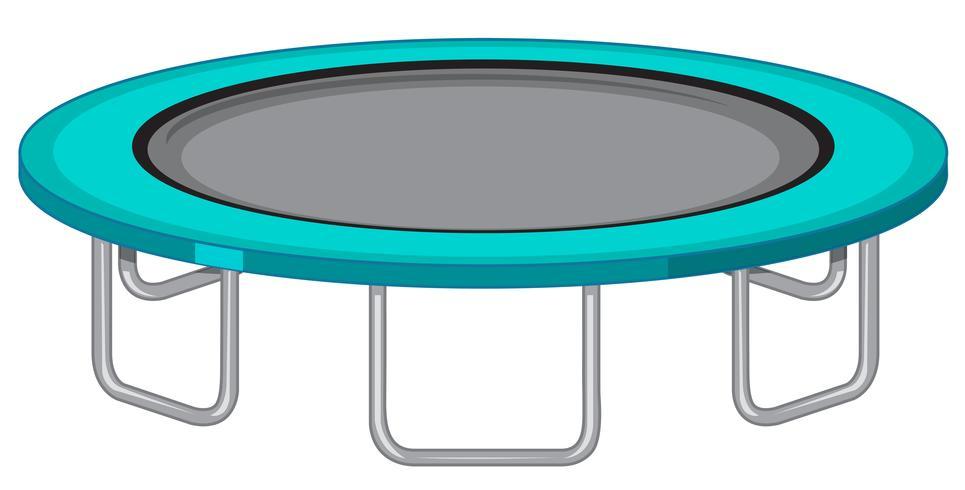 Stor trampolin vit bakgrund
