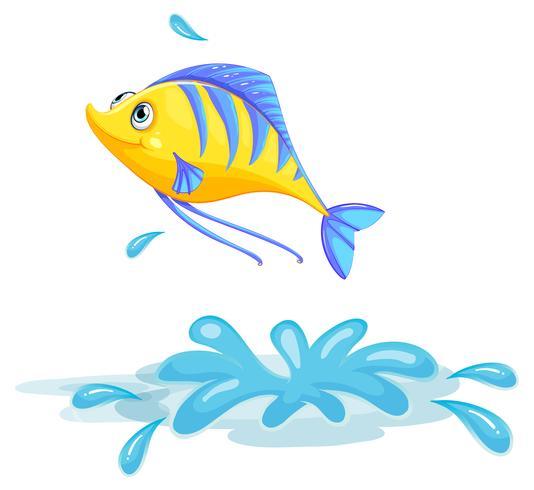 Um peixe amarelo