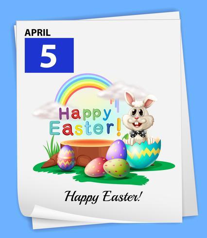 En 5 april kalender