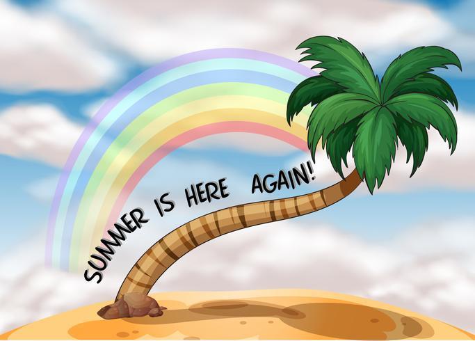 Un modèle d'été avec un arc en ciel