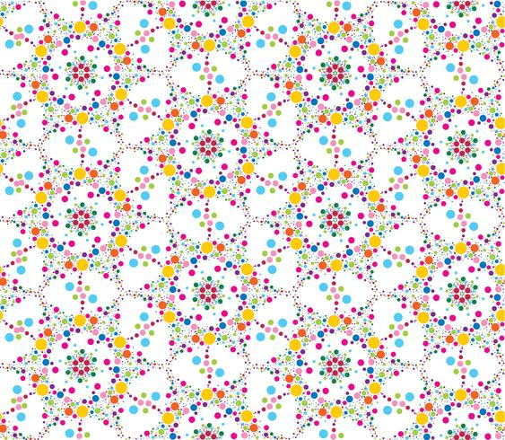 Textura sem costura floral de ponto abstrato. Padrão de telha elegante