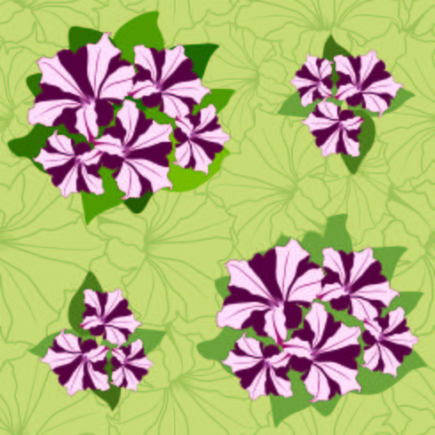 Floral seamless pattern. Decorative flower background. vector