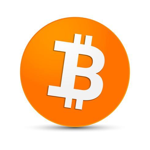 Criptovaluta digitale. Icona semplice del segno di Bitcoin.