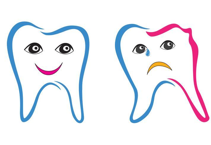 Zahn eingestellt. Zähne weißes Schild. Zahnmedizinische medizinische getrennte Ansammlung.