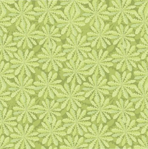 Patrón floral sin fisuras Adorno de hoja oriental de azulejos vector