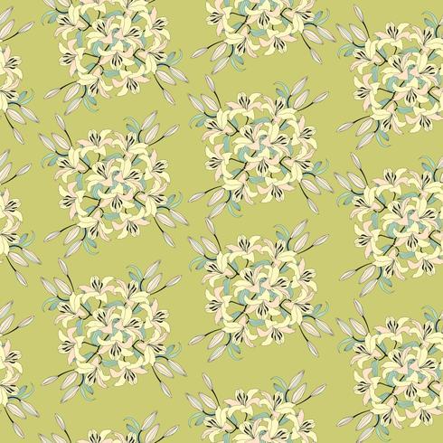 Floral sömlös bakgrund. Blomma bukett bakgrund