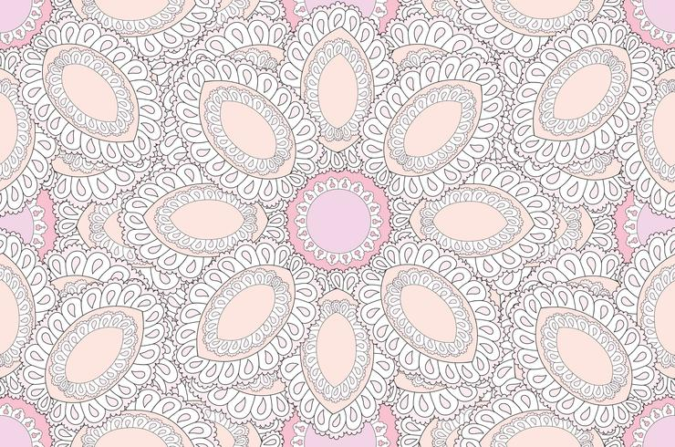 Abstract floral ethnic pattern. Geometric floral ornament. vector