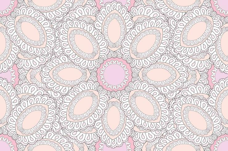Resumen patrón étnico floral. Ornamento floral geométrico.