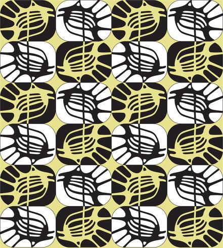 Abstract ornamental seamless outline pattern in 1960s style.