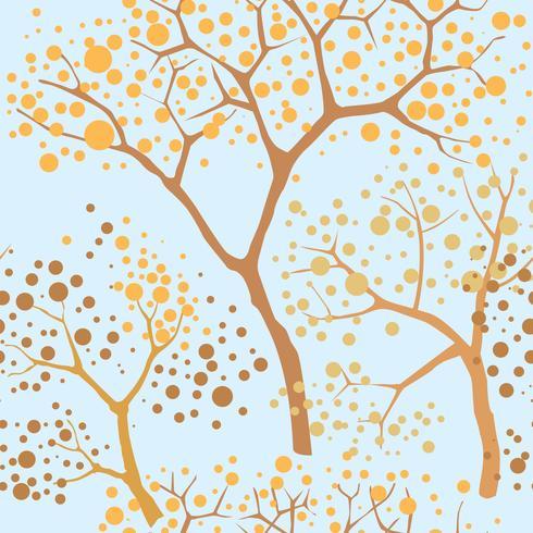 Fundo sem emenda de floresta. Padrão de árvore de jardim