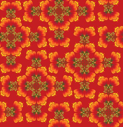 Motivo floreale senza soluzione di continuità. Fiori ornamentali in stile russo
