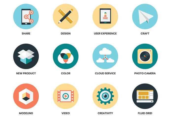 Conjunto de ícones de negócios para pôster de negócios