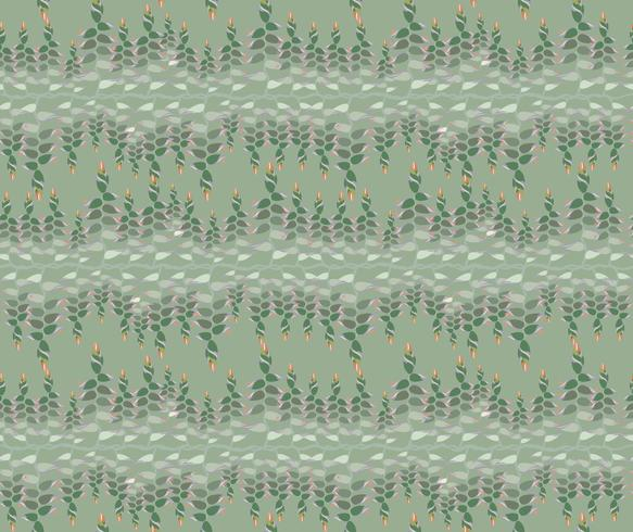 seamless pattern with snake floral motif on background