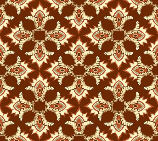 Abstract floral ethnic pattern. Geometric floral ornament.