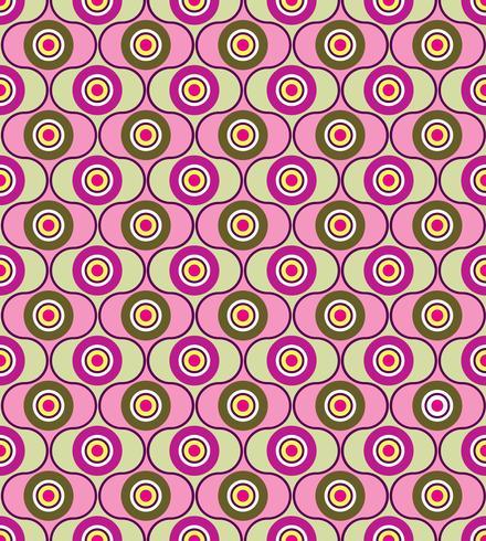Círculos de fondo sin fisuras Adorno geométrico con estilo