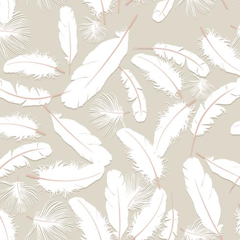 Padrão de penas. Penas brancas em fundo cinza. textura perfeita travesseiro natural.