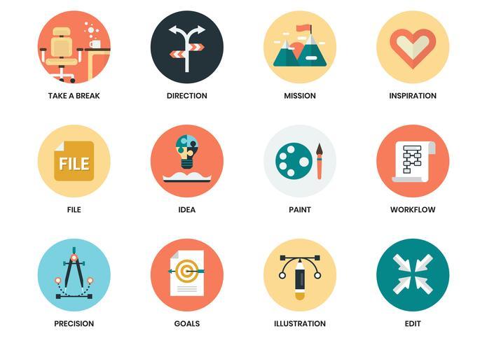 Iconos de negocios establecidos para el cartel de negocios