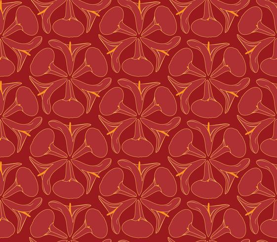 Modèle sans couture floral oriental abstrait. Fond ornement géométrique de fleurs.