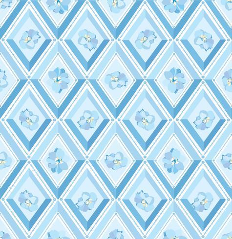 Floral pattern Flourish tiled background. Diamond line ornament vector