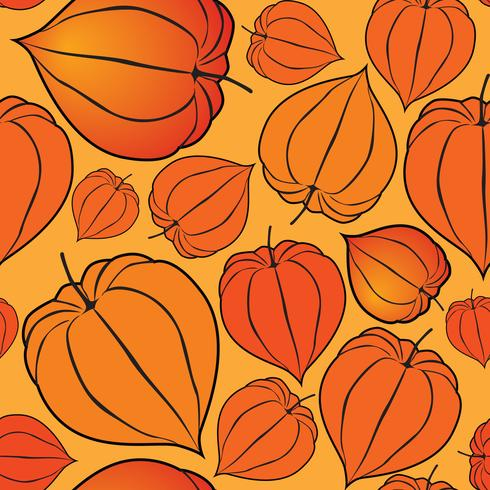 Abstract floral seamless pattern. Winter cherry backdrop