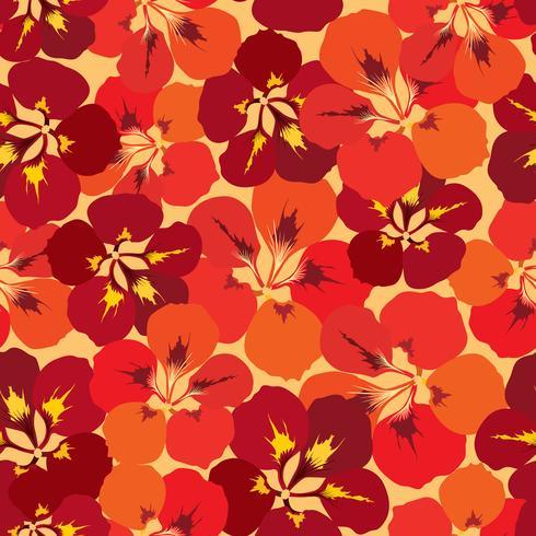 Abstract bloementegelpatroon. Tuin bloem achtergrond