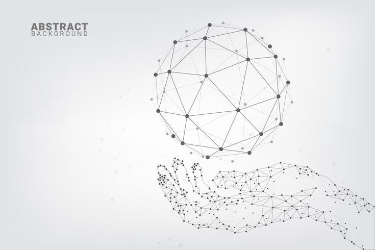 Fundo abstrato geométrico tecnologia
