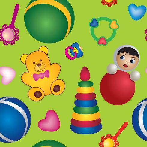 padrão sem emenda de brinquedo. padrão de bebê. Contexto abstrato do brinquedo do bebê.