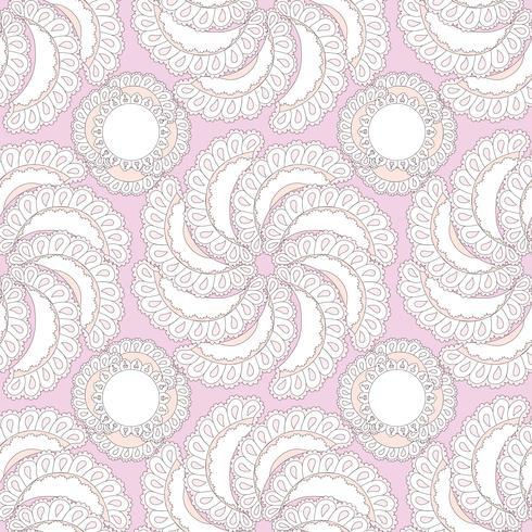 Motivo ornamentale floreale astratto. BAC strutturato senza cuciture del fiore