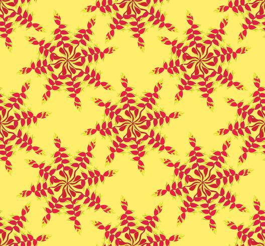 Resumo padrão étnico floral. Ornamento floral geométrico.