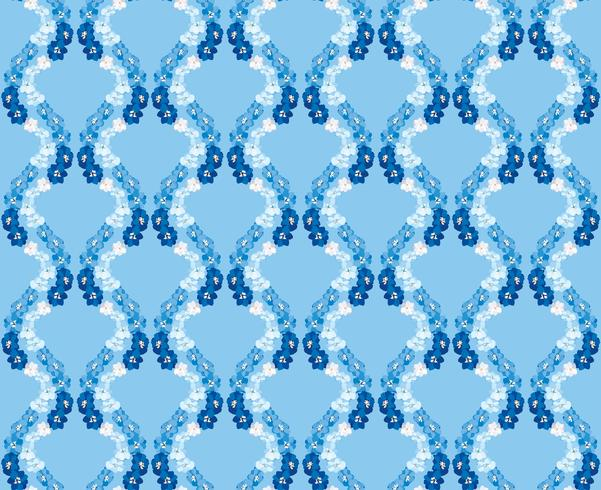 Abstract floral tile pattern. Garden flower background vector