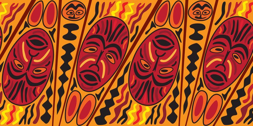 Modello senza cuciture etnico, stile tribale. La mascherina africana ha piastrellato il fondo.
