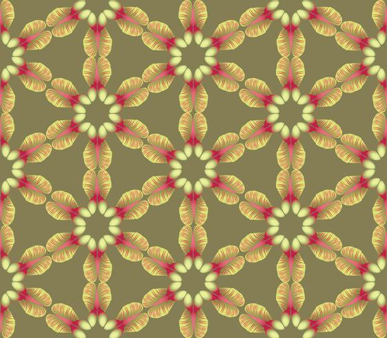 Abstract floral ethnic pattern. Geometric ornament. vector