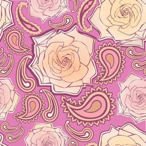 Floral seamless pattern. Flower background. Ornamental texture vector