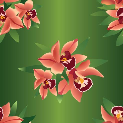 Floral seamless background. Flower ohrid backdrop