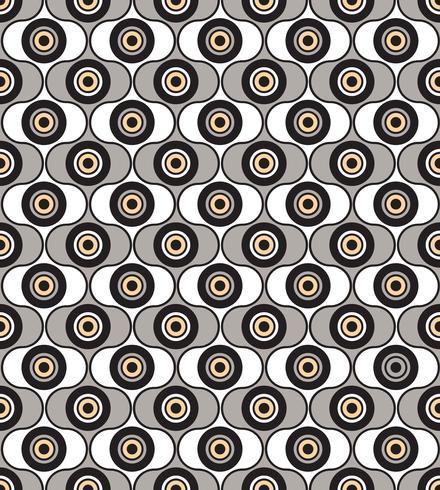Seamless background circles. Stylish geometric ornament
