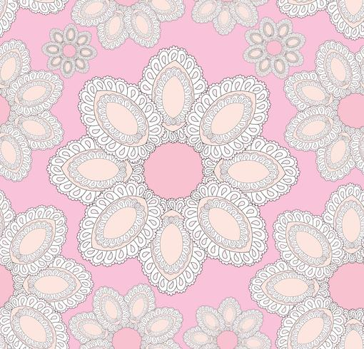 Abstract floral ethnic pattern. Geometric floral ornament. =