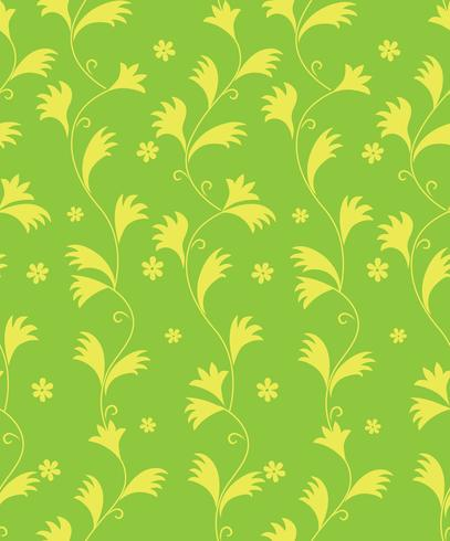 Patrón floral abstracto Hojas de remolino de fondo sin fisuras