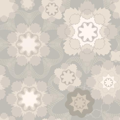 Abstract floral geometric ornament. Seamless Line pattern vector