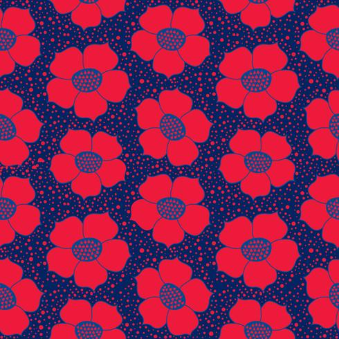 Abstract floral seamless pattern. Flower geometric ornamental background. vector