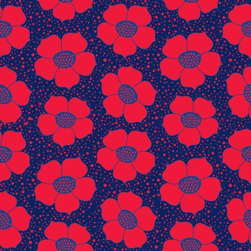 Resumen patrón floral sin fisuras. Flor de fondo geométrico ornamental.