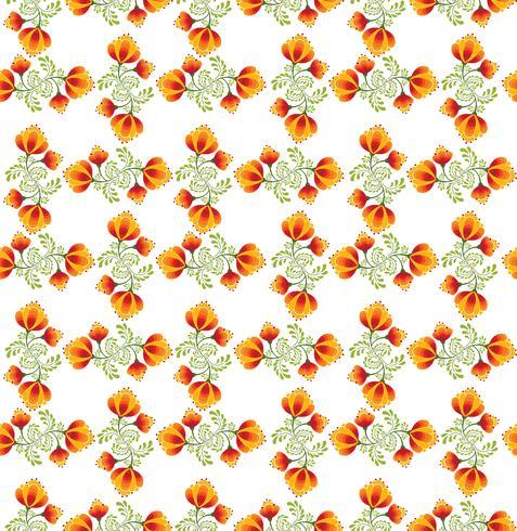Patrón floral sin fisuras Flores ornamentales en estilo ruso.