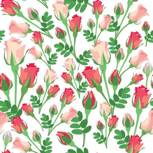 Motivo floreale senza soluzione di continuità. Fiore rosa sfondo.