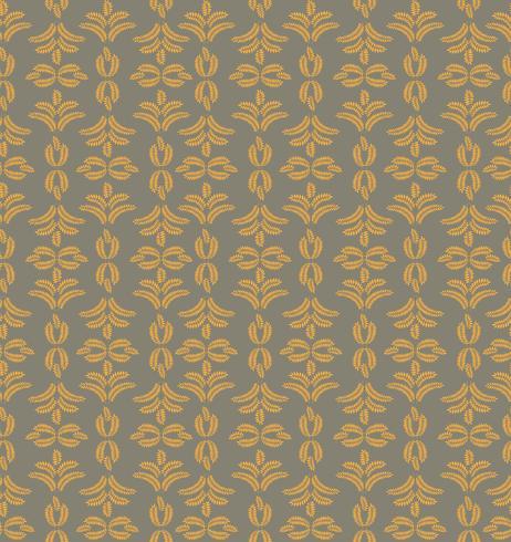 Padrão ornamental floral. Fundo de floreio geométrico vetor