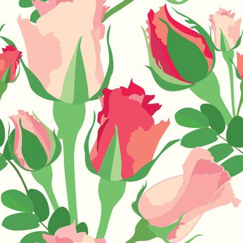 Nahtlose Blümchenmuster Flower rose Hintergrund.