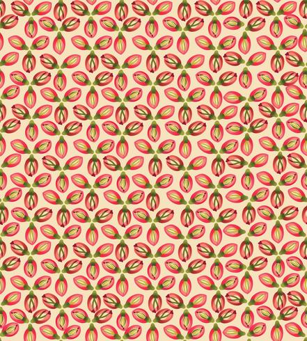 Abstract textured floral seamless pattern. Geometric flowers