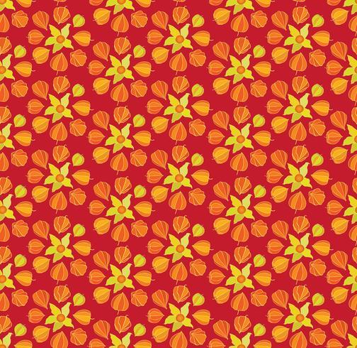 Resumen patrón floral sin fisuras. Adorno de cereza de invierno
