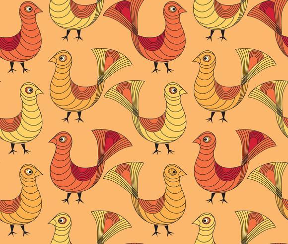 bird pattern. farm bird pattern. Livestock ornament.